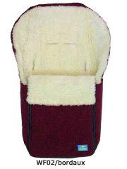 Winterfußsack mit Schurwolle bordeaux