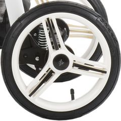 Kinderwagen Rad Nico , Farbe schwarz oder weiß 12 1/2 Zoll, luftbereift und kugelgelagert