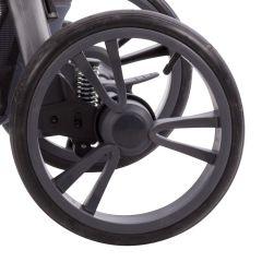 9 Zoll DIN 48 x 188 Kinderwagenrad Kunststoff Nico in schwarz oder weiß mit AV Ventil