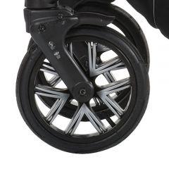 Bebetto Kinderwagen Rad Silvia, Farbe schwarz, Reifengröße 48 x 188, luftbereift und kugelgelagert ohne Gabel