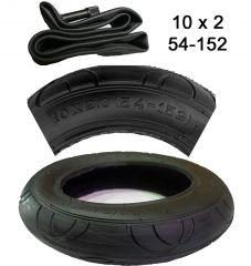 10 x 2  Reifen mit passenden Schlauch m. Autoventil