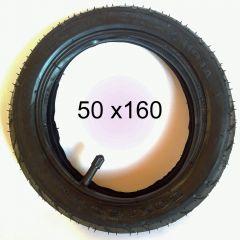 Reifen Mantel + Schlauch  DIN 50 x 160