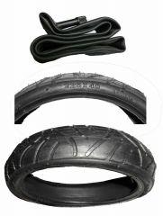 1 Stück Reifen Mantel + passenden Schlauch 9 Zoll DIN 225 x 48
