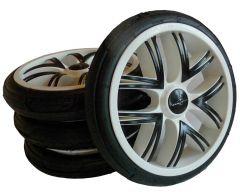 Bebetto Kinderwagen Rad Silvia, Farbe weiß, Reifengröße 60 x 230, luftbereift und kugelgelagert