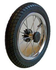 4 Stück 12,5 Zoll Kinderwagenrad kugelgelagert m. Metallspeichen