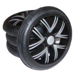 Bebetto Kinderwagen Rad Silvia, Farbe schwarz, Reifengröße 60 x 230, luftbereift und kugelgelagert