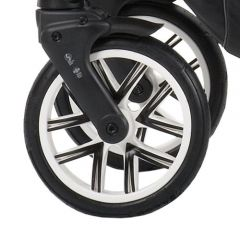 Bebetto Kinderwagen Rad Silvia, Farbe weiß, Reifengröße 48 x 188, luftbereift und kugelgelagert ohne Gabel