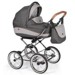 Companero Retro-Design Kinderwagen - Classic Design 05 incl. Adapter für Autositz