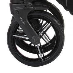 Bebetto Kinderwagen Rad Nico, Farbe schwarz, Reifengröße DIN 48 x 188, luftbereift und kugelgelagert, ohne Gabel
