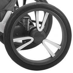 Bebetto Kinderwagen Rad Tito, Farbe grau-weiss, Reifengröße 12 Zoll DIN 60 x 230, luftbereift und kugelgelagert