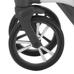 Bebetto Kinderwagen Rad Tito, Farbe grau-weiss, Reifengröße 9 Zoll DIN 48 x 188, luftbereift und kugelgelagert
