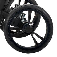 Bebetto Kinderwagen Rad Tito, Farbe schwarz, Reifengröße 12 Zoll DIN 60 x 230, pannenfrei und kugelgelagert