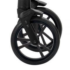 Bebetto Kinderwagen Rad Tito, Farbe schwarz, Reifengröße DIN 48 x 188, pannenfrei und kugelgelagert, ohne Gabel