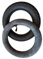 2 Stück Reifen+Schlauch 255 x 50 mit AV Ventil plus Montagehebel