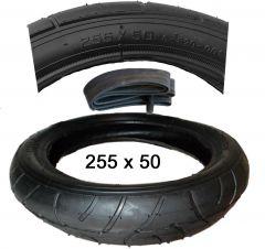 Reifen+Schlauch 255 x 50 mit AV Ventil