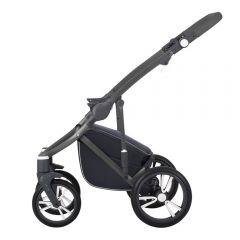 Fahrwerk für Kinderwagen Bebetto Bresso mit Korb, Farbe graphit