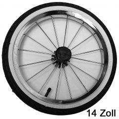 Bebetto-Kinderwagen Kinderwagen Rad 14 Zoll, 44-288 mit weißen Rand, Metallspeichen und kugelgelagert