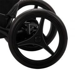 Bebetto Kinderwagen Rad TRIO V1L, Farbe graphit - grau abgesetzt, Reifengröße 12 Zoll DIN 60 x 230, Gel gefüllt, pannenfrei und kugelgelagert