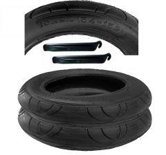 2x Reifen, Mantel 10 x 2  Norm 54-152 mit Montagehebel