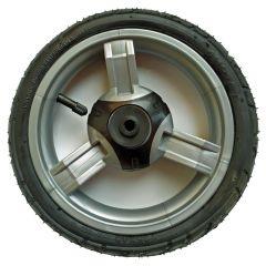 Kinderwagen Schwenkrad Zipp mit Kugellager, 9 Zoll Reifengöße 225x48, Kunststoff grau