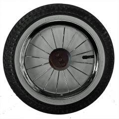 12,5 Zoll Kinderwagenrad kugelgelagert m. Metallspeichen und Reifen mit weißen Rand