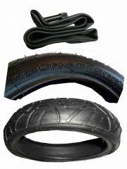 Reifen Mantel + Schlauch m. geraden Autoventil  12  Zoll DIN 280 x 65 - 203