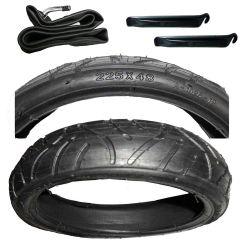 Reifen Mantel 225 x 48 incl. passenden Schlauch mit Winkelventil und Montagehebel