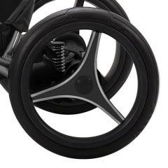 Bebetto Kinderwagen Rad TRIO V1L, Farbe grau/weiß, Reifengröße 60 x 230, luftbereift und kugelgelagert