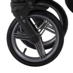 Bebetto Kinderwagen Rad Solar V1L, Farbe graphit-schwarz, Reifengröße DIN 48 x 188, luftbereift und kugelgelagert, ohne Gabel
